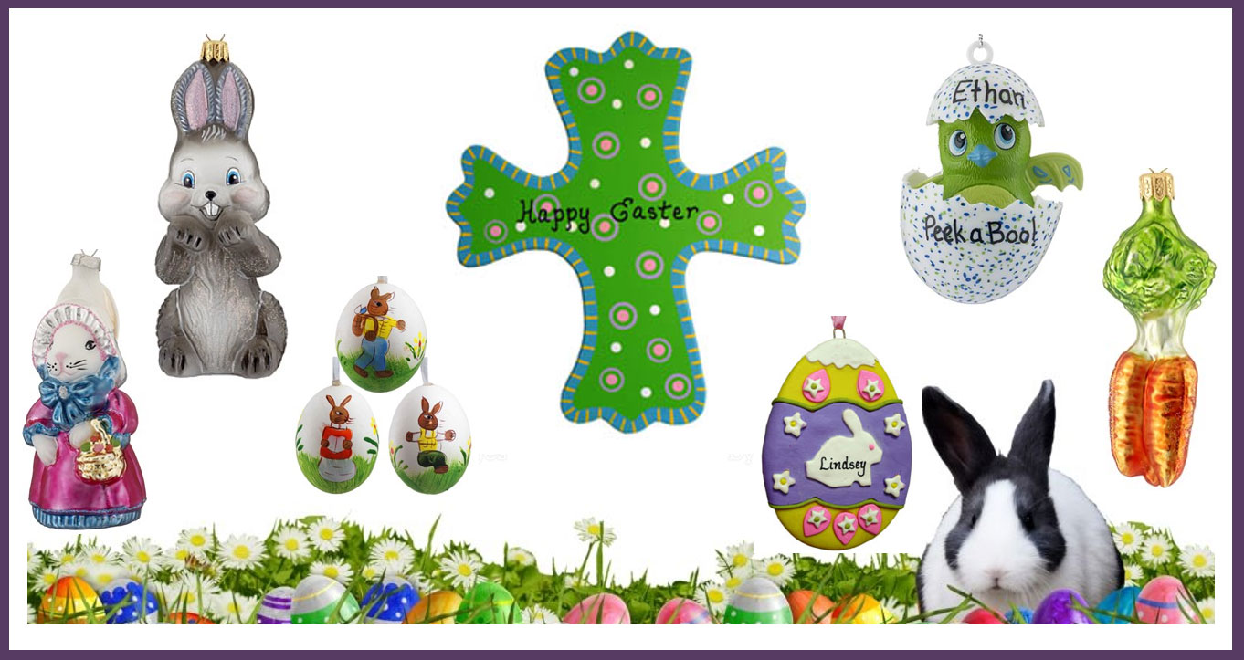 Easter Ornaments and Wall Hanging collage. | OrnamentShop.com
