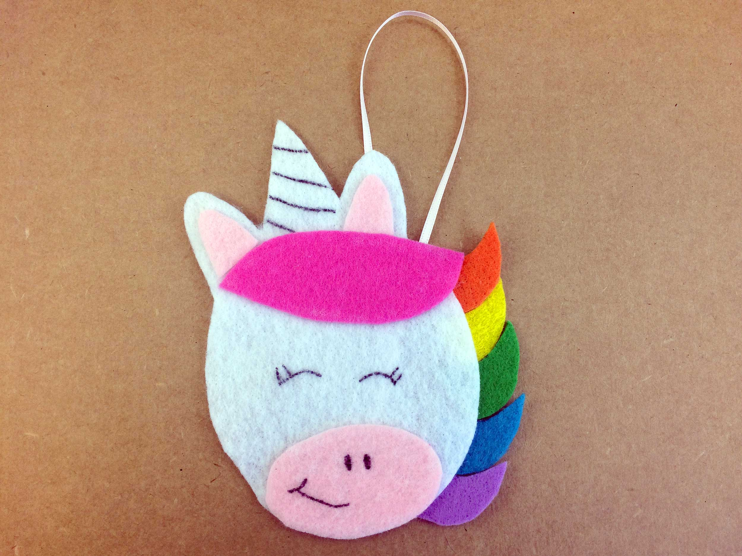 Completed DIY Unicorn Ornament | Ornament Shop