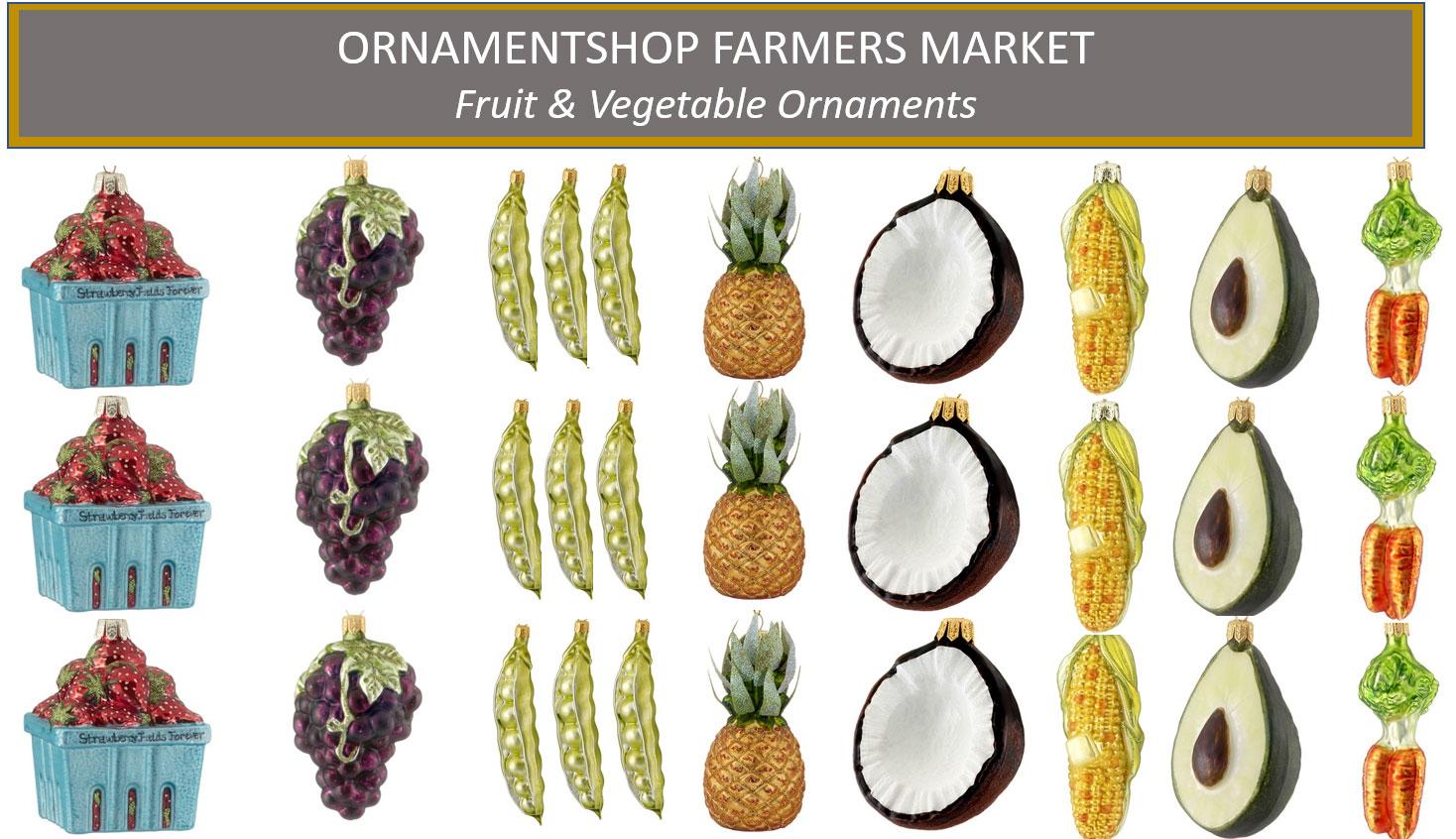 Fruit & Vegetable Ornament Collage | Ornament Shop