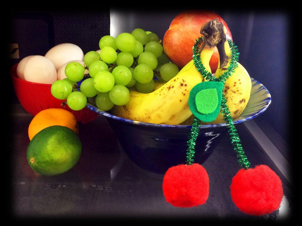 DIY Cherry Ornament in fruit basket | OrnamentShop.com