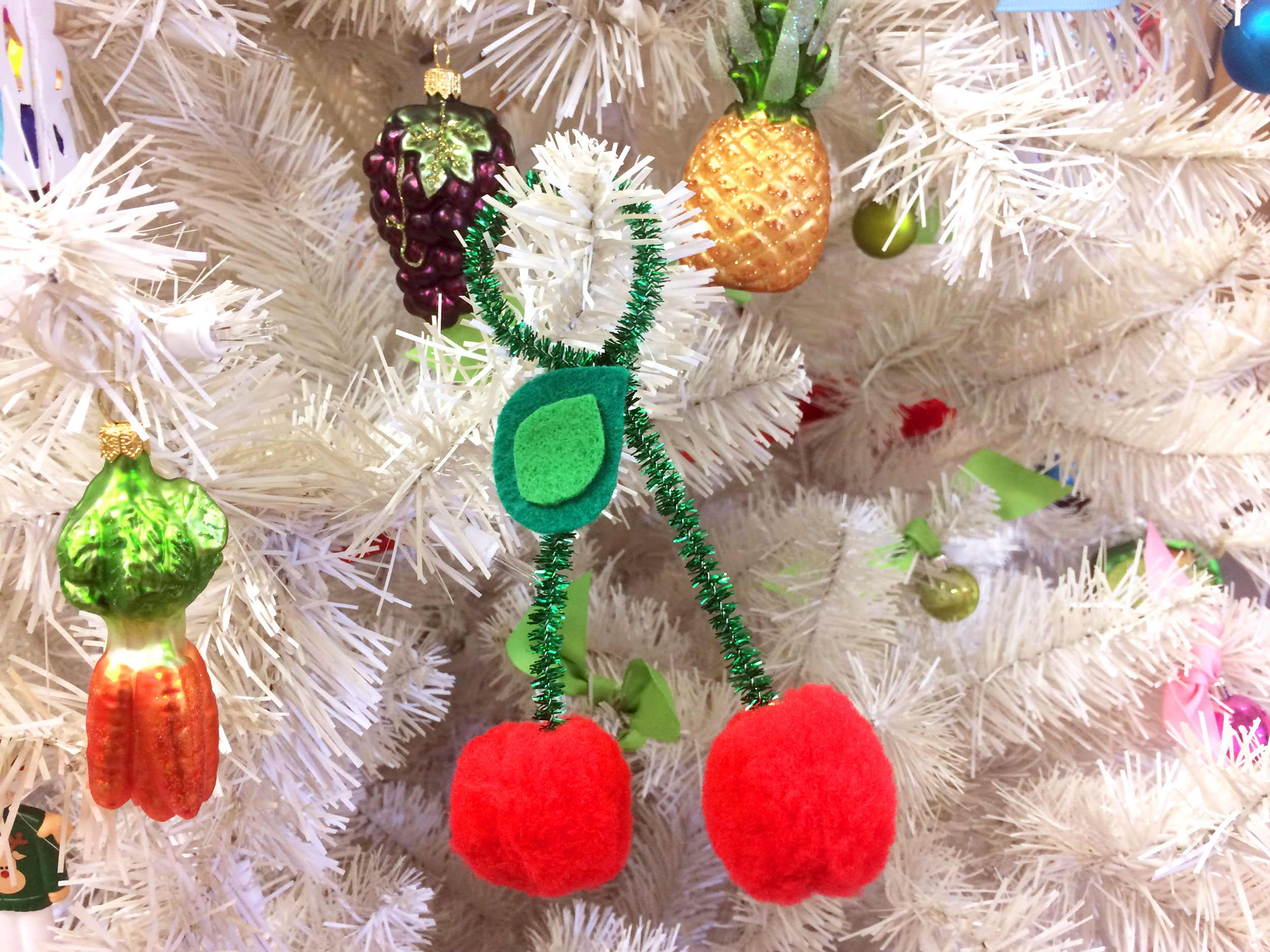 DIY Cherry Ornament on Christmas Tree | Ornament Shop