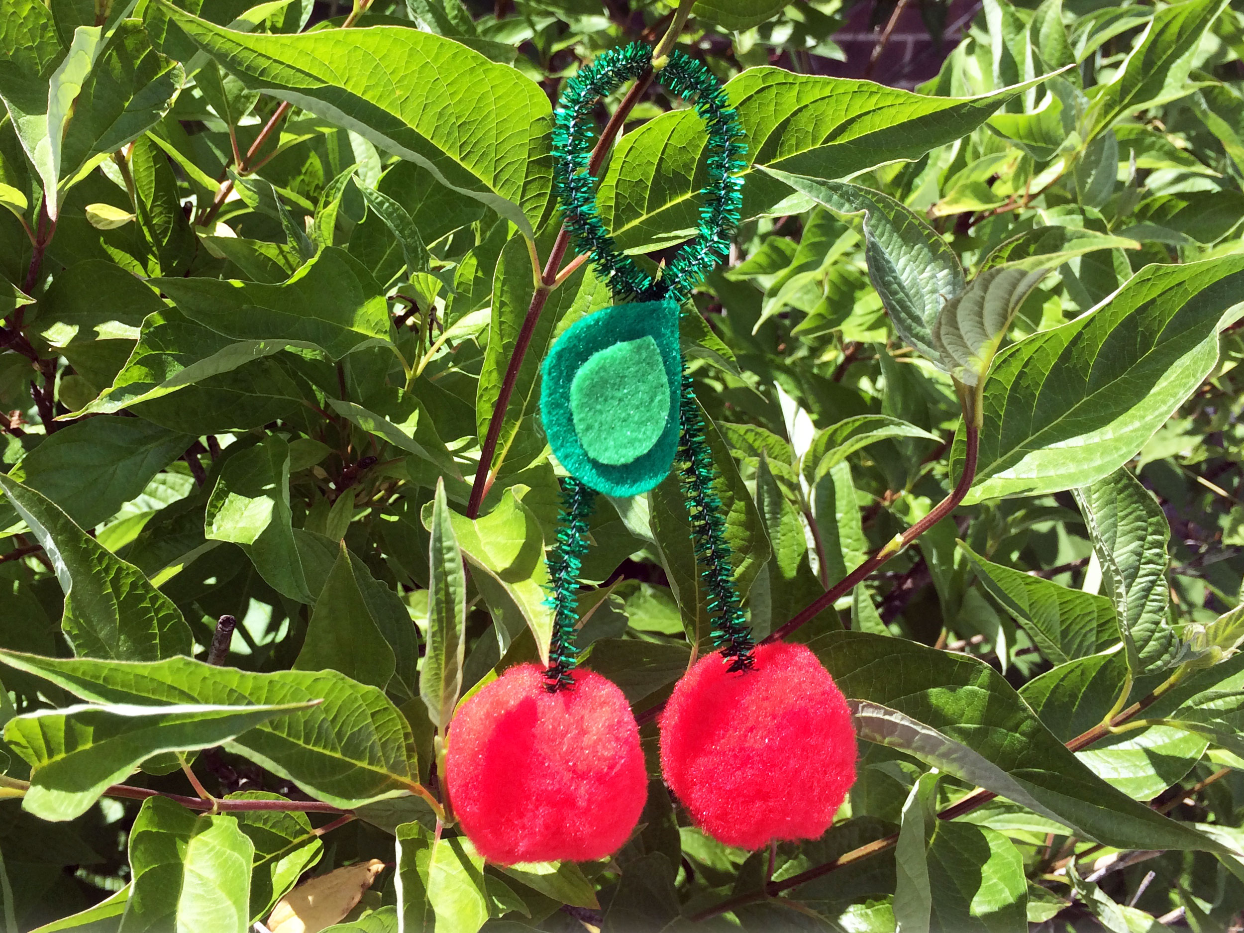 DIY Cherry Ornament - Hanging Outside on Tree | Ornament Shop