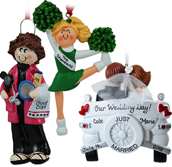 Personalized ornaments for businesses, perfect for employees holiday gift. | OrnamentShop.com