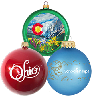Personalized ornaments for businesses with your company logo. | OrnamentShop.com