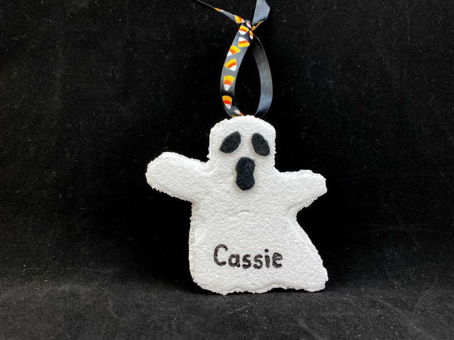 Completed DIY Ghost Ornament | OrnamentShop.com