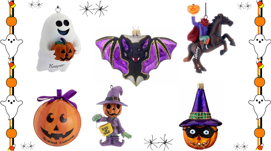 Assortment of Halloween Ornaments | OrnamentShop.com