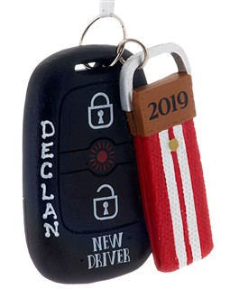 2019 New Driver ornament to celebrate a young adult's driver's licence. | Ornament Shop