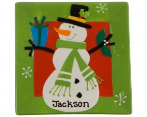 Christmas Decoration - Personalized Christmas Plate