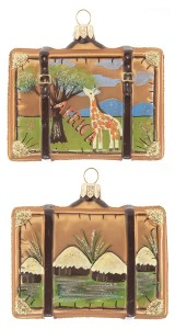 Africa Suitcase Christmas Ornament