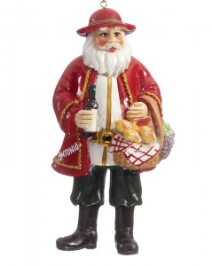 Italian Santa Christmas Ornament