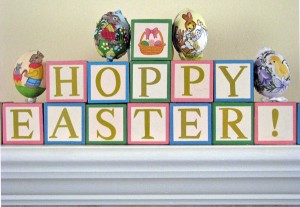 Easter Decoration for Mantle