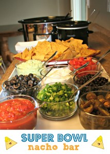 super bowl party nacho bar
