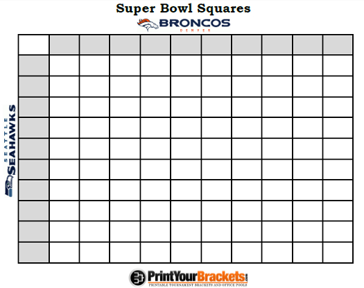 super bowl party - squares